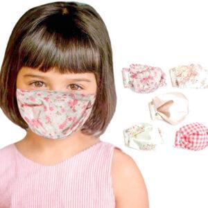 Mascarillas faciales infantiles de tela lavable reutilizable
