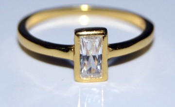 Anillo de plata bañada en oro joyería artesanal