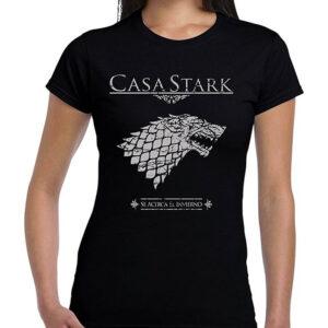 Camisetas Frikis Mujer Juego De Tronos Casa Stark