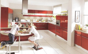Cocina diseño coral brillo intenso