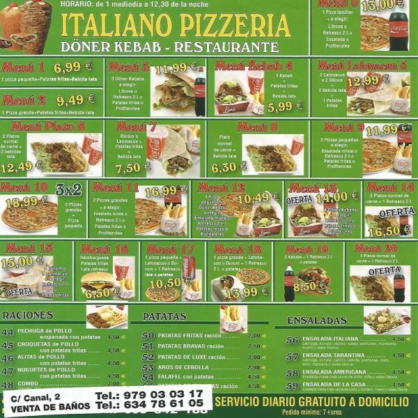 Milano Pizzería Doner Kebab Venta de Baños Palencia