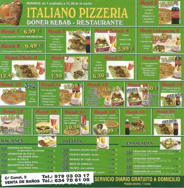 Milano Pizzeria Doner Kebab Venta De Banos Palencia