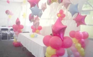 Decoración con globos en salones