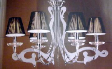 Lámpara cromada diseño