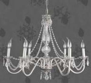 Lámpara forja cristal
