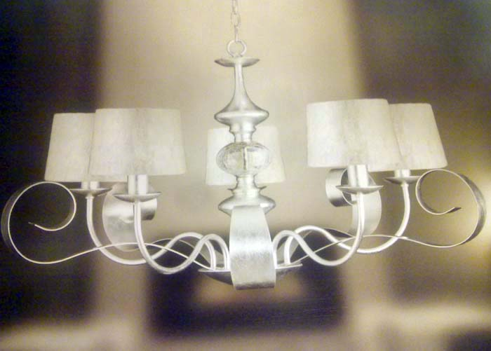 Lámpara plata DECOR