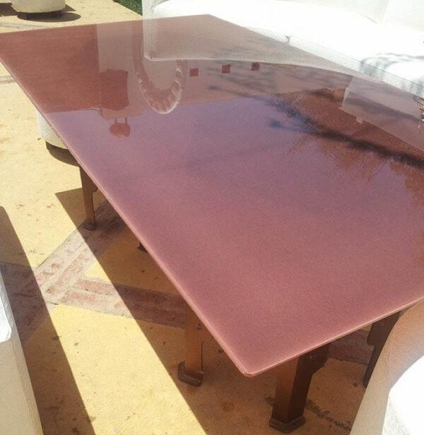 Mesa de cristal laminado