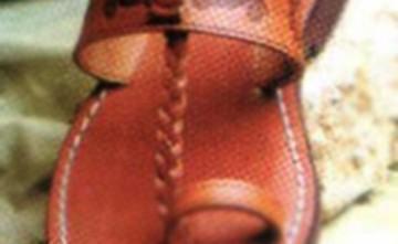 Sandalia Mod. 3d. Artesanía en cuero