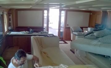 Tapicería náutica interior sofá Estepona