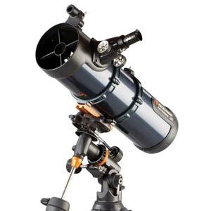 Telescopio newtoniano con motor y trípode de acero