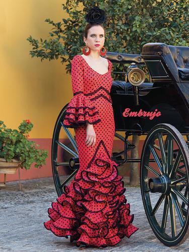 Vestido de flamenca modelo Embrujo La Línea