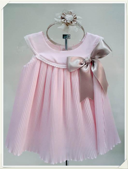 Vestido rosa, moda infantil Fuengirola