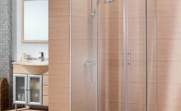 Mampara angular para ducha. Cristalería Estepona